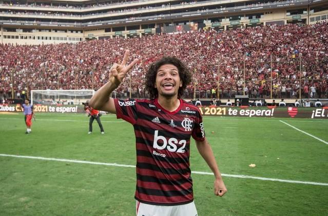 WILLIAN ARÃO - CONTRATO ATÉ: 31/12/2023 / Posição: volante / Nascimento: 12/03/1992 (28 anos) / Jogos pelo Flamengo: 246 / Títulos pelo Flamengo: Carioca (3), Brasileiro, Libertadores, Supercopa do Brasil e Recopa Sul-Americana.
