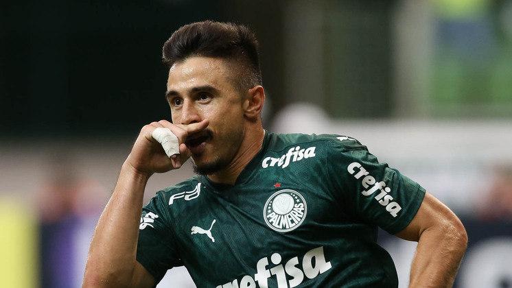Willian, do Palmeiras, jogou 13 partidas e tem seis gols marcados, numa média de 0,5/partida. Foram três grandes chances perdidas até agora, com 1,5 finalização por compromisso.