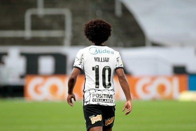 Willian: o ponta ex-Arsenal completou contra o Palmeiras seu segundo jogo como titular pelo Corinthians, e mostrou que pode ser muito útil, com seus dribles e jogadas de velocidade.