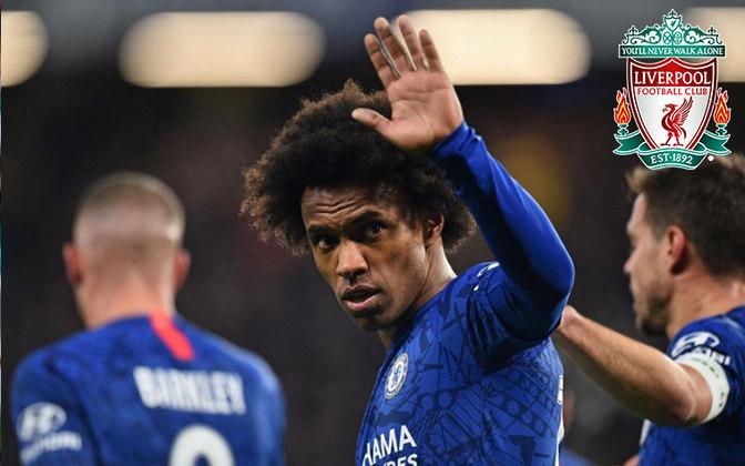 Willian. Posição: Meia. Idade: 31 anos. Clube atual: Chelsea. Clube interessado: Liverpool.