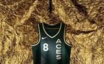 Las Vegas Aces - camiseta número 2:Inspirado no cartão Ace e em referência a quem já domina o seu ofício, o uniforme transmite excelência e qualidade