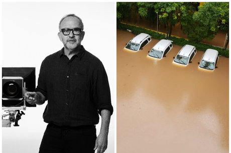 Fotógrafo mostrou estacionamento debaixo d'água