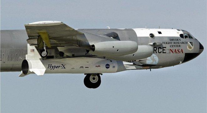 O X-43A da Nasa, que faz voos não tripulados, é a aeronave hipersônica mais rápida que se conhece
