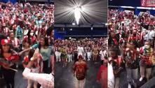 Escola de samba tem aglomeração e público sem máscara em evento