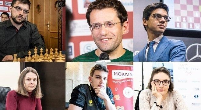 A Europa: Vachier-Lagrave, Aronian, Giri, Muzychuk, Duda e Dzagnidze