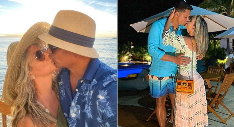 Declarações de amorCasados oficialmente há quase 20 anos, Xanddy e Carla demonstram que não perderam o lado romântico. Os dois adoram trocar declarações nas redes.