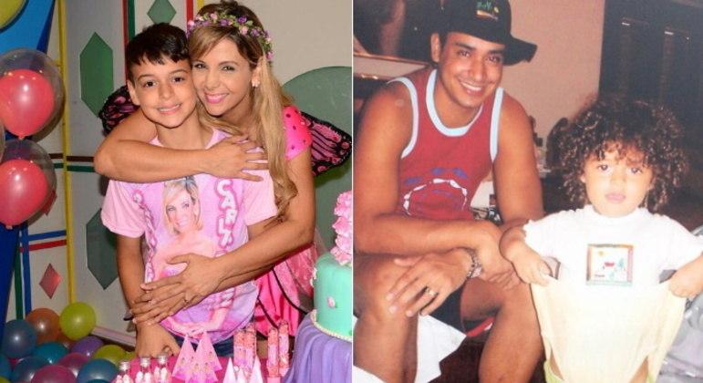 Boas memóriasOs filhos de Xanddy e Carla Perez já recordaram fotos antigas algumas vezes nas redes sociais, ressaltando o carinho que têm pelos pais.