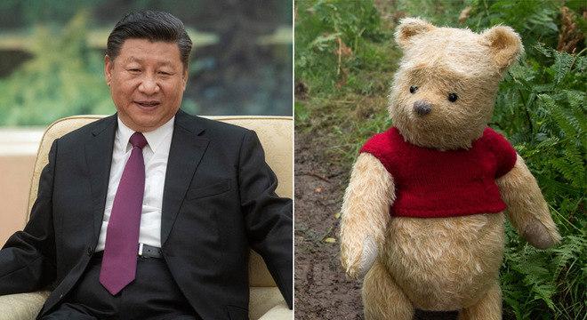 O presidente da China, Xi Jinping, tem sido comparado ao Ursinho Puff