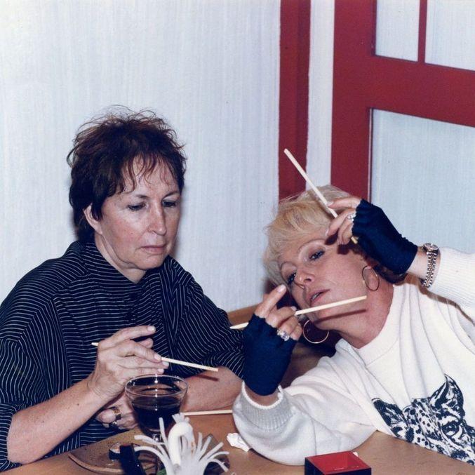 Dona Alda com Ana Maria Braga