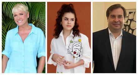 Xuxa, Maisa e Maia participaram da gincana