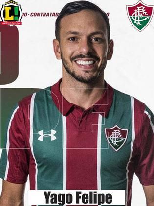 Yago Felipe: 6,0 - O meio campo não vem atuando bem na Libertadores. Com mais um jogo abaixo no que diz respeito a qualidade técnica - Yago não conseguiu impor seu estilo de jogo -, o jogador tentou compensar na marcação.