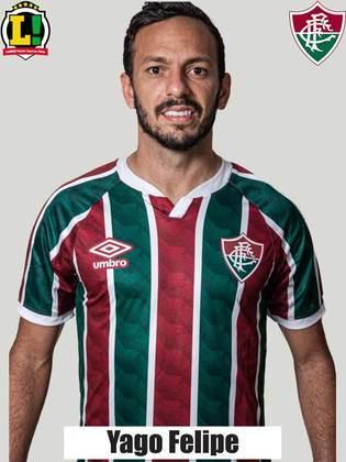 Yago Felipe: 6,5 - Apesar de ter feito o desarme que originou o primeiro gol do Tricolor, Yago ainda não conseguiu apresentar seu melhor futebol na Libertadores. Na etapa final, no entanto, foi bem e fez o terceiro do Flu para sacramentar a vitória.