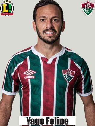 Yago Felipe - 7,0 - Fez desarmes, deu passes estratégicos e agressividade ao time, e fez o gol de empate do Fluminense.