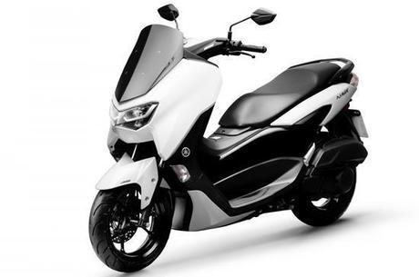 Nova NMAX 160 ABS na cor branco perolizado