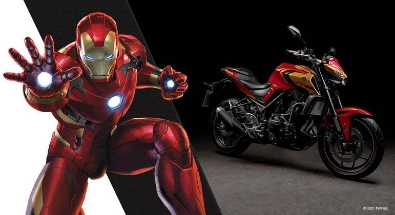 Visual é diferente e traz a carenagem inspirada na armadura do Homem de Ferro