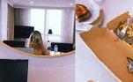 Assim que chegaram na Austrália, Yasmin e Medina tiveram de cumprir uma quarentena de quase duas semanas, devido à pandemia de covid-19. Nas redes sociais, a filha de Luiza Brunet contou que eles ficaram isolados em um hotel .'14 dias sem poder sair do quarto. Oi, Austrália', postou ela, que mostrou fotos da refeição no local