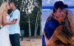 Yasmin Brunet e Gabriel MedinaOs pombinhos firmaram a união em uma praia do Havaí, nos Estados Unidos. A cerimônia foi totalmente discreta e simples