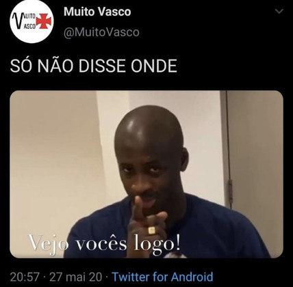 Yaya desiste do Vasco e rivais não perdoam nos memes