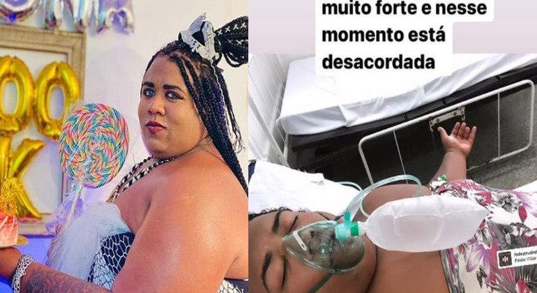 Hospitalizada com covid, Ygona Moura tem piora em quadro de saúde