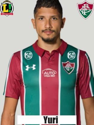 Yuri - 7,5:Protegeu bem a zaga e foi eficaz no campo de ataque. Cruzou a bola para Felipe Aguilar fazer o gol do jogo, contra.