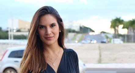 A repórter da Record TV Renata Varandas
