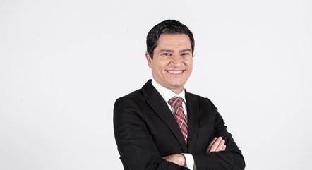 O repórter da Record TV Yuri Achcar