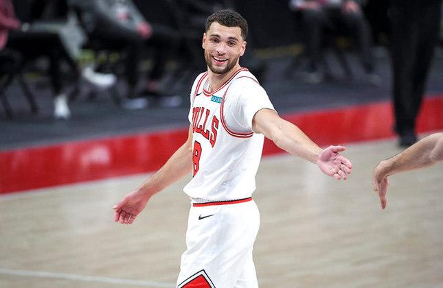 Zach LaVine - 26 anos - Ala-armador do Chicago Bulls - Estreante em Olimpíada