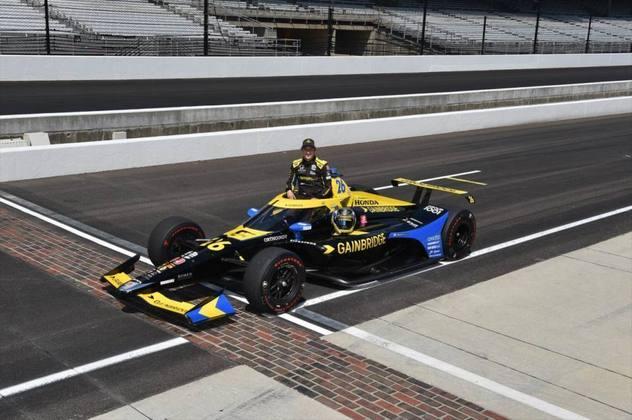 Zach Veach, #26, da Andretti, é o 17º