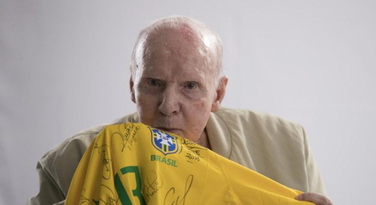 Zagallo tem grande identificação com a seleção brasileira