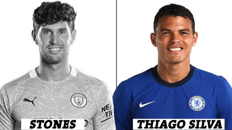 ZAGUEIRO: 0 voto para Stones; 15 votos para Thiago Silva.