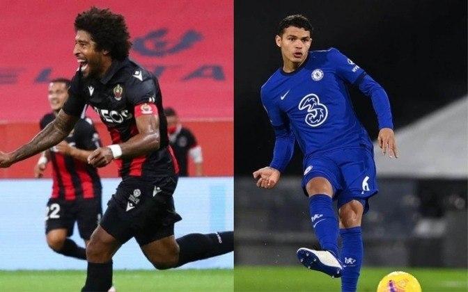 Zagueiro: Dante (atualmente no Nice) x Thiago Silva (atualmente no Chelsea)