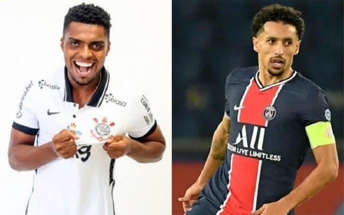 Zagueiro: Jemerson (atualmente no Corinthians) x Marquinhos (atualmente no PSG)