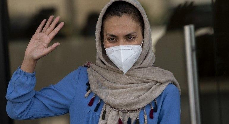 Zainab Momeny chegou nesta manhã (10) ao Chile após passar alguns dias no Paquistao