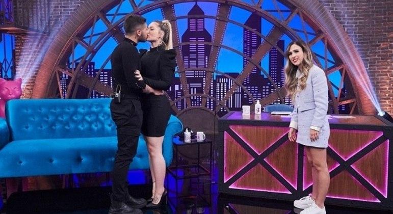 "Zé Felipe  e Virginia Fonseca com Tatá Werneck no ""Lady Night """