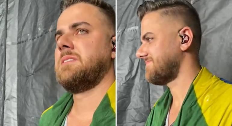 Zé Neto chora ao voltar aos palcos após um ano e meio sem shows