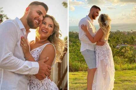 Zé Neto e Natália renovaram os votos de casamento