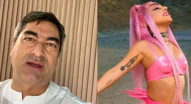 Zeca Camargo e Lady Gaga