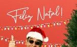 O artista já apareceu vestido a caráter na véspera do Natal, em 2019, na web. À época, os fãs vibraram com a publicação. 'Esse cara é demais', escreveu um seguidor. 'Eu amo você', disse outro