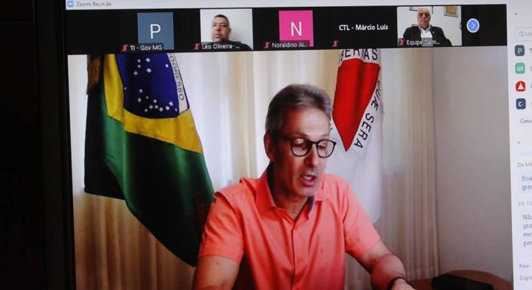 Zema assinou decreto durante videonconferência com deputados e representantes do MP