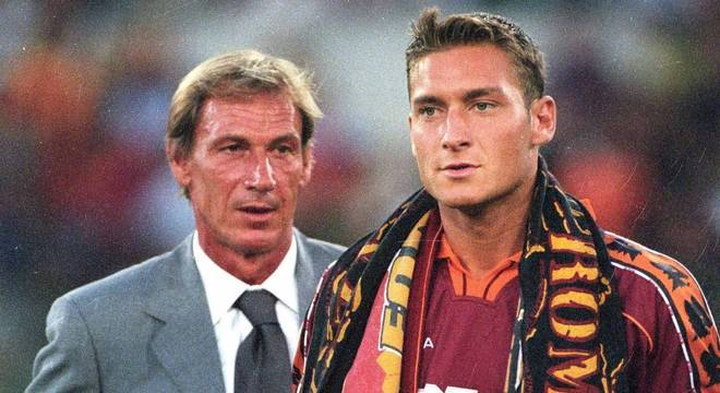 Zdenek Zeman e Francesco Totti em 1999