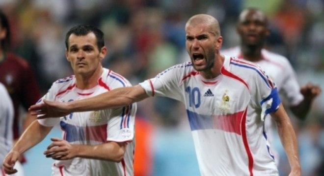 Zidane marcou dois na decisão de 98 e um em 2006