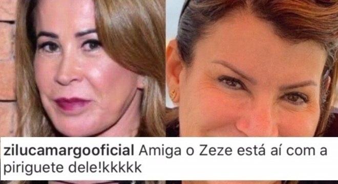 Zilu ataca Graciele na rede social da mulher do cantor Rick