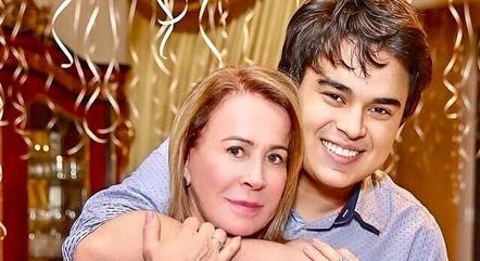 Zilu Godoi e o filho Igor Camargo