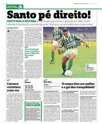 Zinho foi o autor do primeiro gol do Palmeiras na vitória por 3 a 0 no tempo normal - o Corinthians havia vencido a ida por 1 a 0, mas naquela época o saldo de gols não interessava, por isso a prorrogação. O gol do canhotinho foi de direita:
