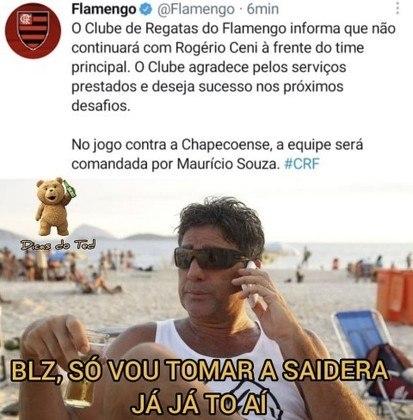 Zoeira no Flamengo! Demissão de Rogério Ceni e possível chegada de Renato Gaúcho renderam memes nas redes sociais