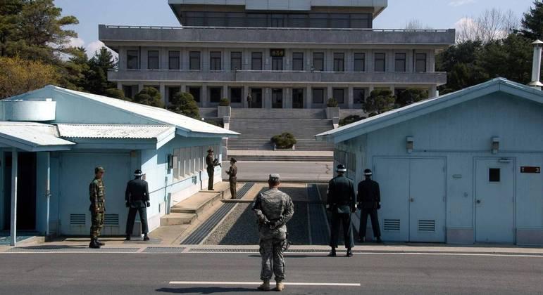 Zona Desmilitarizada separa Coreias do Norte e do Sul